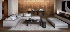 Sofá modular / moderno / de tela / de cuero - BRISTOL - Poliform