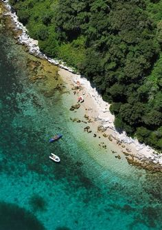 A beach in Funtana, Istria