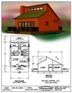 Small house or studio? Old house! Small Tiny House, Tiny House Cabin, Tiny House Living, Small House Design, Small House Plans, House Floor Plans, Small Homes, Small Loft, Espace Design