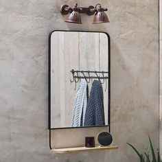 Bathroom Mirror With Shelf, Mirror Box, Wood Mirror, Black Bathroom Mirrors, Chesterfield Corner Sofa, Round Mirrors, Bathroom Interior Design, Of Wallpaper, Wood Shelves