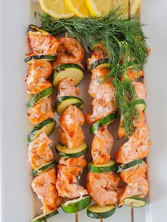 BARBECUE SALMON SKEWERS