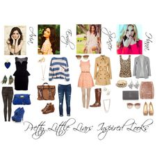 Made this on Polyvore! Its Pretty Little Liars inspired looks!