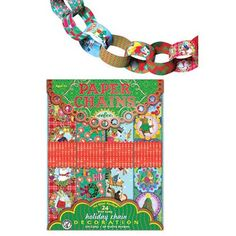 Holiday Paper Chain Kit 120 Links - Makes 24-Foot Paper Chain
