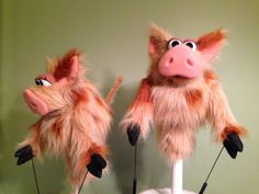 Step by Step of this fantastic pig puppet!