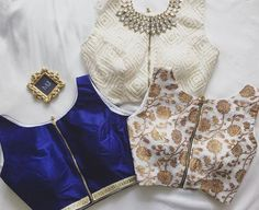 Hi everyone :) Decided to create an Indian wear inspo album. Indian Attire, Indian Ethnic Wear, Indian Outfits, Saree Blouse Patterns, Sari Blouse Designs, Choli Designs, Indian Couture, Beautiful Blouses, Indian Designer Wear