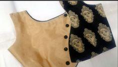 Stylish Blouse Back Neck Designs - Kurti Blouse Saree Jacket Designs, Blouse Designs High Neck, Patch Work Blouse Designs, Simple Blouse Designs, Designer Blouse Patterns, Handmade Crafts, Flower Embroidery, Embroidery Designs, Hand Designs