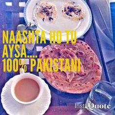 100 % Pakistani breakfast