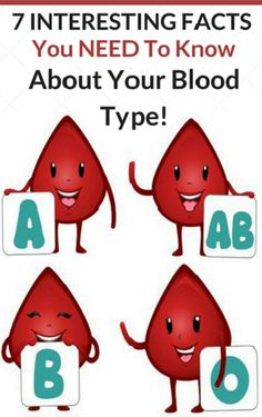 7 Interesting Facts You Need To Know About Your Blood Type! #7InterestingFactsYouNeedToKnowAboutYourBloodType!
