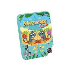 Difference Junior, családi megfigyelést fejlesztő kártyajáték 4 éves kortól - Gigamic