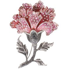 LC Collection Diamond 18k white gold titanium floral brooch (€25.280) ❤ liked on Polyvore featuring jewelry, brooches, floral jewellery, white gold brooch, diamond jewellery, diamond jewelry and 18 karat gold jewelry