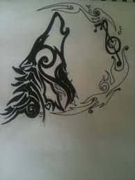 celtic howling wolf tattoo design mike pinterest howling wolf tattoo wolf tattoo design. Black Bedroom Furniture Sets. Home Design Ideas