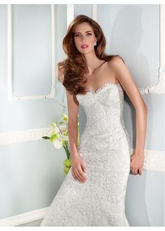 Fabulous Lace Sweetheart Neckline Natural Waistline Sheath Wedding Dress