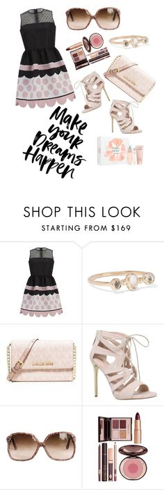 """""""Make your dreams happen"""" by noa-antebi-pinto on Polyvore featuring RED Valentino, Melissa Joy Manning, MICHAEL Michael Kors, Carvela, Charlotte Tilbury and Calvin Klein"""