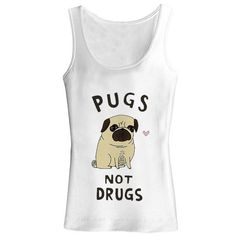 pugs not drugs for tank top by fashiontankshop on Etsy