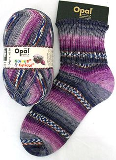 Opal Sweet & Spicey in 8615 Red Cabbage colorway