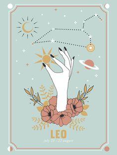 Leo Zodiac Series Mini Art Print by cafelab Leo Zodiac Facts, Zodiac Art, Zodiac Memes, Pisces Zodiac, Signe Astro Lion, Leo Constellation Tattoo, Arte Do Kawaii, Geometric Art, Cute Wallpapers