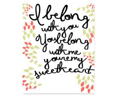 Ho Hey  The Lumineers Lyric Typography Home by OhSoCraftyDesigns,