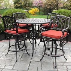 53 best bar height patio furniture images on pinterest backyard rh pinterest com outdoor furniture bar height table and chairs Outdoor Iron Table and Chairs