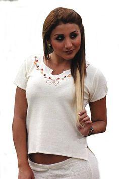 Natur weißes Kurzarm Damen Top Shirt Sommershirt 100% ökologische Pima Baumwolle Biobaumwolle