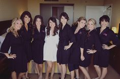 I love the idea of the personalized robes for the bridesmaids