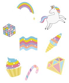 Aesthetic Unicorn Stickers Set Pack Colorful Rainbow Cute Kawaii Pastel Cute Kawaii Pastel A cute pack of unicorn aesthetic stickers designed with love for unicorn lovers. You can use it to decorate your phone case, laptop, books, notebook, travel case, suitcase, surfboard, desktop, etc... Unicorn Stickers, Aesthetic Stickers, Sticker Design, Surfboard, Suitcase, Phone Case, Finding Yourself, Desktop, Notebook