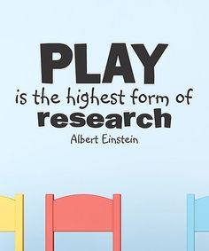Loving this 'Play is Research' Wall Quotes™ Decal on #zulily! #zulilyfinds
