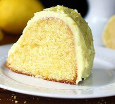Homemade Lemon Pudding Cake with Lemon Buttercream Frosting