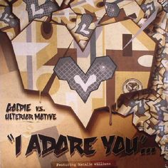 The artwork for the vinyl release of: Goldie | Ulterior Motive - I Adore You (Record Store Day 2017) (Metalheadz) #music DrumAndBass