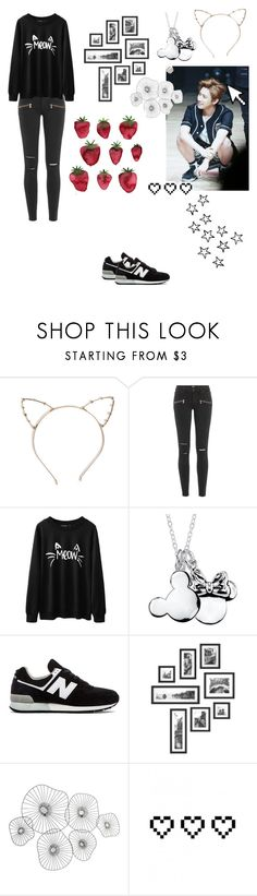 """""""Monsta-X I.M❤️"""" by dania-exol-army ❤ liked on Polyvore featuring beauty, Paige Denim, Disney, New Balance, Cyan Design, Pointer and Retrò"""