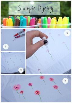 Sharpie Dyeing Step by Step on www.squidgyboo.com #sharpie #sharpiedyeing…