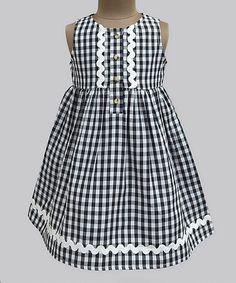 Another great find on #zulily! Black Gingham Penelope Dress - Kids & Tween #zulilyfinds