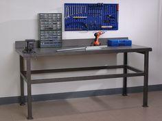 Banco Da Lavoro Leroy Merlin : Postazione lavoro officina con banchi e pannelli forati con