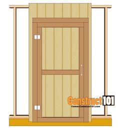 shed door plans hinges Building A Storage Shed, Outdoor Storage Sheds, Shed Building Plans, Building Ideas, Building A Door, Building Homes, Building Design, Shed Design Plans, Diy Shed Plans