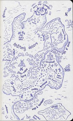 25 - treasure map | Flickr - Photo Sharing! sketch map treasure pirate