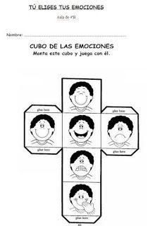 El cubo de las emociones Teaching Emotions, Feelings Activities, Feelings And Emotions, Craft Activities For Kids, Teaching Spanish, Teaching English, Coping Skills, Social Skills, Les Sentiments