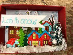 Matchbox Christmas ornament Christmas diorama ornament