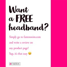 Love #FASTEN swimwear and dancewear? Write a review on our web site and get a #FREE #headband! (scheduled via http://www.tailwindapp.com?utm_source=pinterest&utm_medium=twpin)