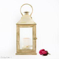Vintage Wedding Outdoor Lantern - Shabby Cottage Chic Decoration Lantern - French Champagne -  Wedding Aisle, Party, Holiday Decoration