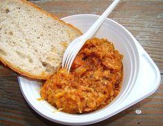 Repollo con salsa de tomate y gratinado
