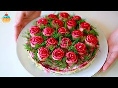 VK is the largest European social network with more than 100 million active users. Appetizer Salads, Appetizers, Decoration Vitrine, Food Plating, No Bake Cake, Finger Foods, Food Hacks, Food Art, Cake Decorating