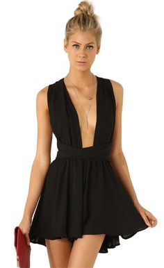 Women s Black Sleeveless Criss Cross Back Sexy Jumpsuit 59348bbced13