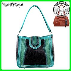 TR32G-918 Trinity Ranch Concealed Handgun Collection Handbag-Black - Hobo bags (*Amazon Partner-Link)
