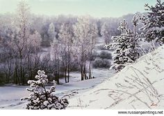 Russian Paintings Gallery - Adamow Alexis - 'Winter Tale. #2'