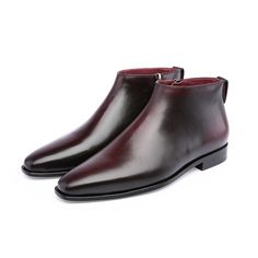 TERSE_5 MOQ fashion men boots handmade genuine leather luxury shoes in 3 colors engraving service factory to customer