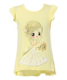 Yellow Little Girl Tee - Infant, Toddler & Girls #zulily #zulilyfinds