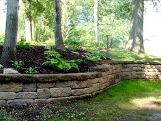 Crazy Front Yard Retaining Wall Landscaping - Onechitecture The Effective Pictures We Offer You Concrete Retaining Walls, Stone Retaining Wall, Landscaping Retaining Walls, Hillside Landscaping, Outdoor Landscaping, Front Yard Landscaping, Outdoor Gardens, Landscaping Ideas, Indoor Garden