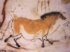 Caballo con flecha clavada. Pintura rupestre.140 cm. Magdaleniense (aprox. 11.000 a.C.). Cueva de Lascaux. Dordoña (Francia)