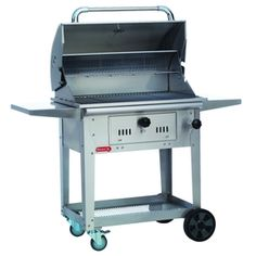 Check out the Bull Outdoor 67530 Bison Charcoal Grill with Cart in Stainless Steel Patio Grill, Grill Oven, Charcoal Smoker, Charcoal Bbq, Bull Bbq, Outdoor Refrigerator, Grill Cart, Offset Smoker, Grill Accessories