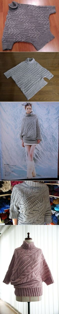Baby Knitting Patterns Clothes Sweater construction, no pattern Baby Knitting Patterns, Crochet Poncho Patterns, Knitting Designs, Crochet Pullover Pattern, Knit Crochet, Crochet Baby, Black Crochet Dress, Crochet Clothes, Pulls