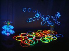 Glow party for tweens and teens! It's a perfect idea for a fab budget event! www.PrincessSharon.com (Click on photo gallery for many more images of this party!)